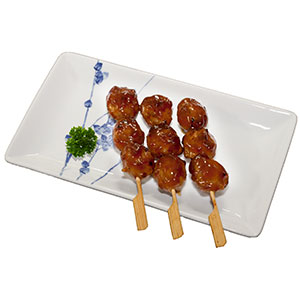 Tsukune - Skewered & Charcoal Grilled Chicken Meatballs